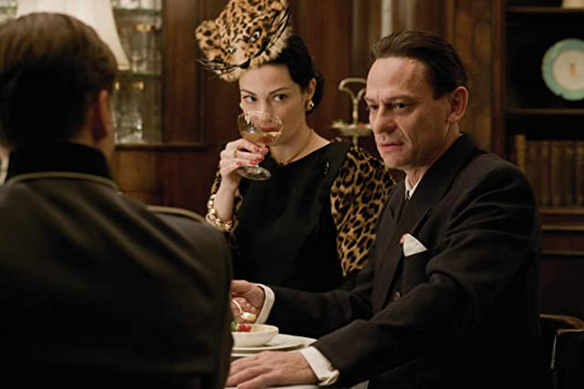 Julie Dreyfus and Sylvester Groth in Inglourious Basterds (2009)