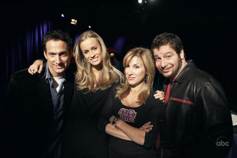 Elon Gold, Michele Merkin, Jeffrey Ross, and Lisa Ann Walter in The Next Best Thing: Who Is the Greatest Celebrity Impersonator? (2007)