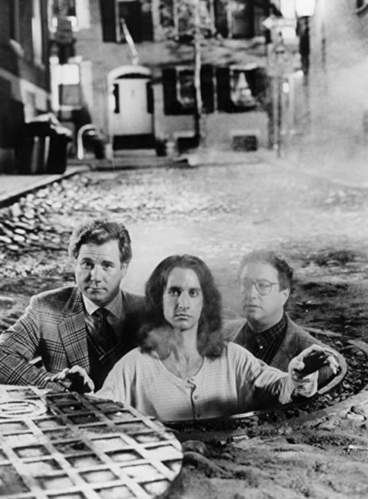 Bronson Pinchot, John Larroquette, Stuart Pankin, and John Schuck in Second Sight (1989)