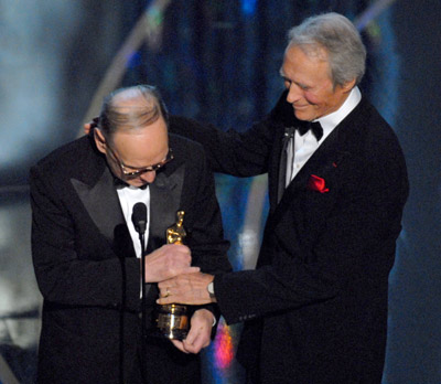 Clint Eastwood and Ennio Morricone at an event for The 79th Annual Academy Awards (2007)