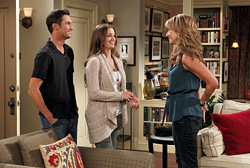 Oliver Hudson, Bianca Kajlich, and Megyn Price in Rules of Engagement (2007)