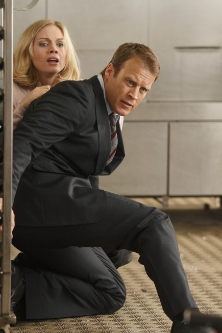 Mark Valley and Christina Cole in Human Target (2010)