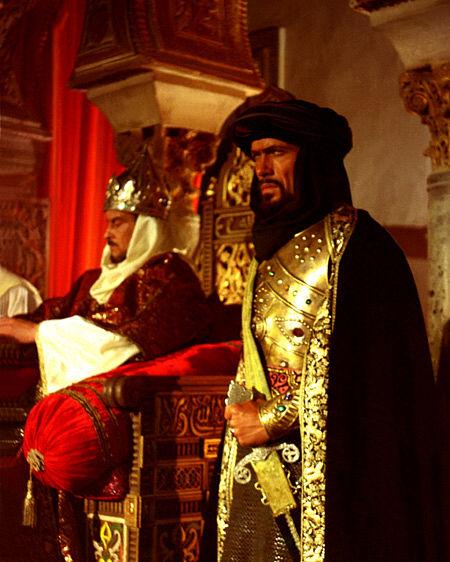 Defenders of the Throne: King Hasan (Horst Buchholz) and Prince Muhammad 'El Zagal' (Olegar Fedoro) in Requiem por Granada (1990)