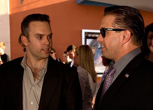 Producer/Director Rocco DeVilliers with Actor Stephen Baldwin at THE FLYBOYS premiere.