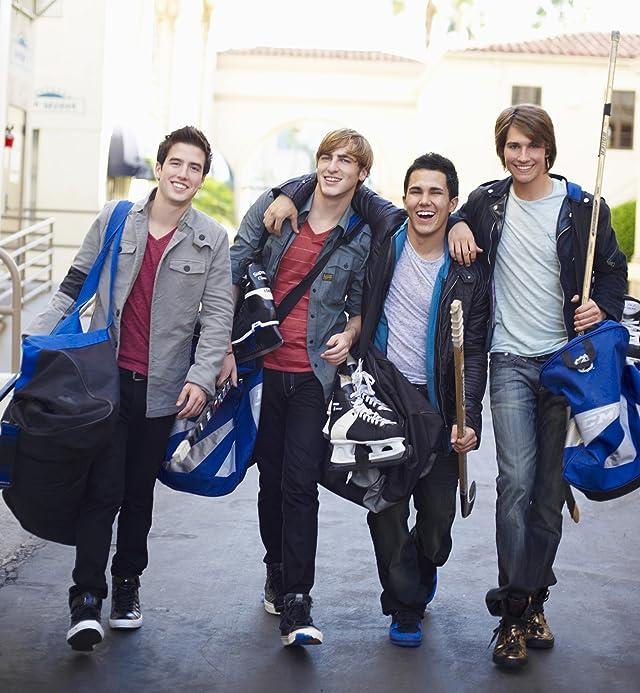 Kendall Schmidt, Carlos PenaVega, James Maslow, and Logan Henderson in Big Time Rush (2009)