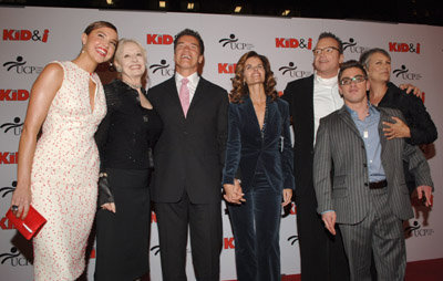 Jamie Lee Curtis, Arnold Schwarzenegger, Tom Arnold, Maria Shriver, Arielle Kebbel, Penelope Spheeris, and Eric Gores at The Kid & I (2005)