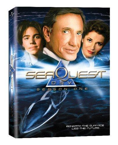 Stephanie Beacham, Jonathan Brandis, and Roy Scheider in SeaQuest 2032 (1993)