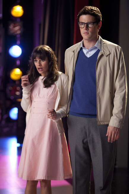 Lea Michele and Cory Monteith in Glee (2009)