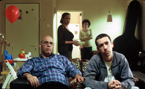Uri Gavriel, Ahuva Keren, Hilla Sarjon, and Rubi Moskovitz in The Band's Visit (2007)