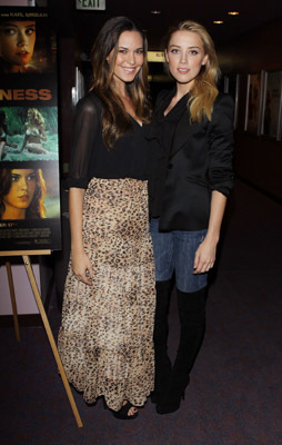 Odette Annable and Amber Heard at an event for And Soon the Darkness (2010)
