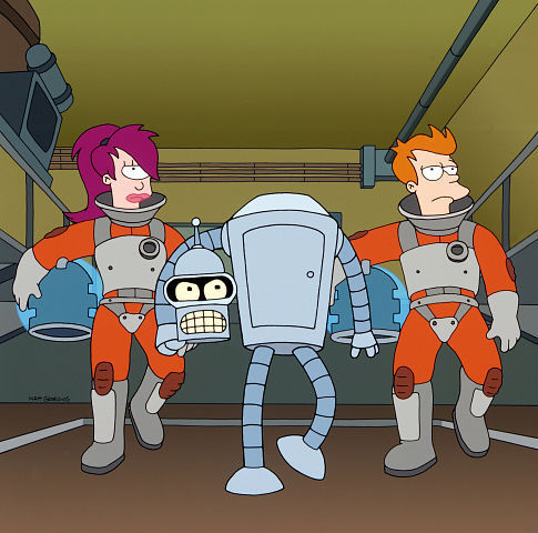 As a trash-teroid heads toward Earth, the rag-tag Planet Express crew - Bender, Leela and Fry - sets out to destroy it before it causes Armageddon on the