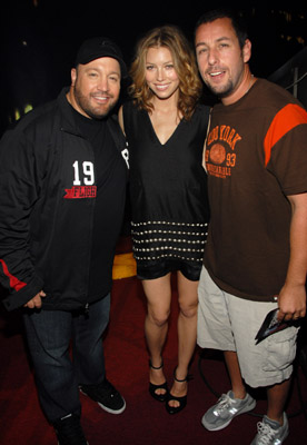Adam Sandler, Jessica Biel, and Kevin James