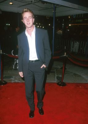 Edward Norton at an event for Fight Club (1999)