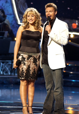 Diana DeGarmo and Ryan Seacrest at American Idol (2002)