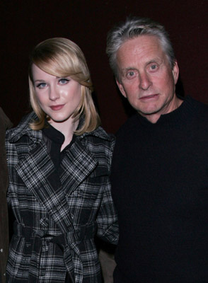Michael Douglas and Evan Rachel Wood at an event for King of California (2007)