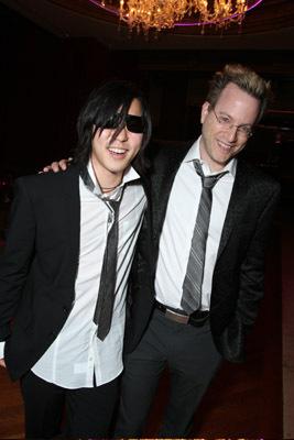 Ben Mezrich and Aaron Yoo at 21 (2008)