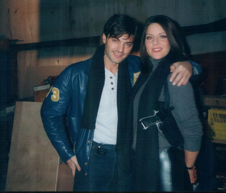 Gerry Fiorini and Andrea Parker on the set of