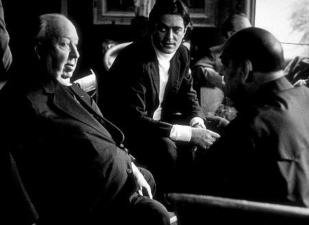 Directors Group Party,11/72. Alfred Hitchcock, Rafael Bunuel, Luis Bunuel, at party hosted by George Guckor.