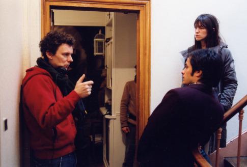 Charlotte Gainsbourg, Gael García Bernal, and Michel Gondry in The Science of Sleep (2006)