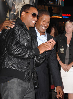 Will Smith and Jamie Foxx at an event for The Kingdom (2007)