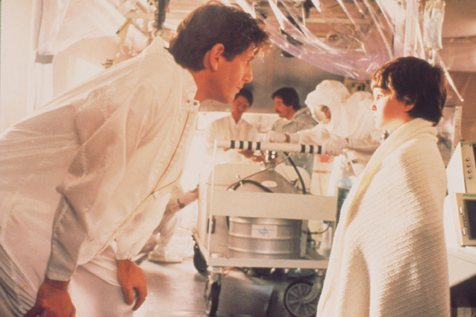 Peter Coyote, Henry Thomas, and Robert Murphy in E.T. the Extra-Terrestrial (1982)