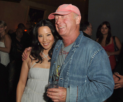 Tony Scott and Lucy Liu at an event for Domino (2005)