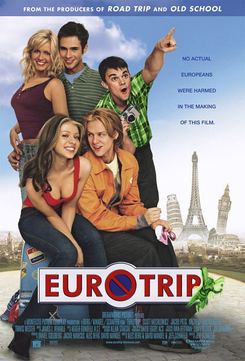 Michelle Trachtenberg, Jessica Boehrs, Jacob Pitts, Travis Wester, and Scott Mechlowicz in EuroTrip (2004)