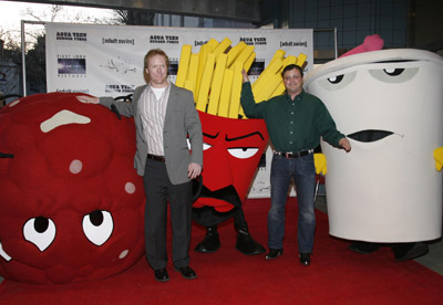 Matt Maiellaro and Dave Willis at Aqua Teen Hunger Force Colon Movie Film for Theaters (2007)