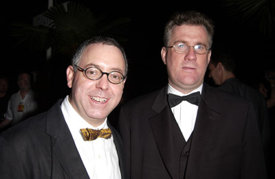 David Linde and James Schamus at The Kid Stays in the Picture (2002)