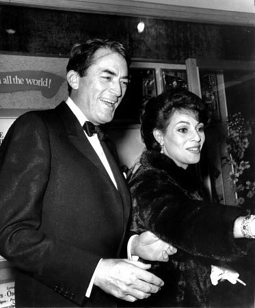 Gregory Peck and his wife Veronique Passani March 1965