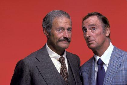Dan Rowan and Dick Martin (aka Rowan & Martin) 1975