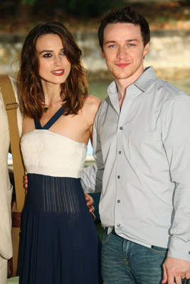 Keira Knightley and James McAvoy at Atonement (2007)