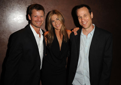 Jennifer Aniston, Steve Zahn, and Stephen Belber at an event for Management (2008)