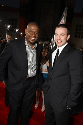 Forest Whitaker and Chris Evans at Street Kings (2008)