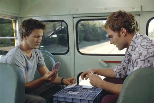 Josh & E.L. play cards