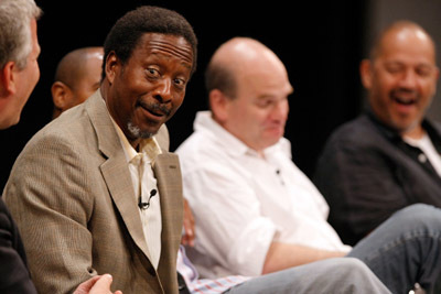 Clarke Peters and David Simon at an event for The Wire (2002)