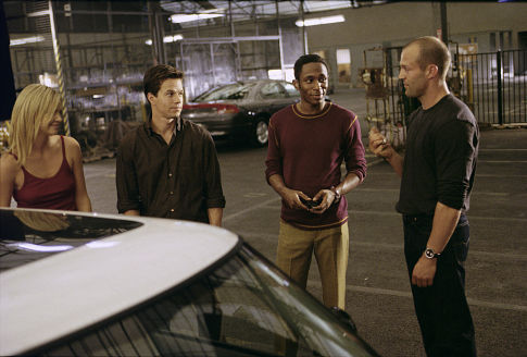 (Left to right) Charlize Theron as Stella, Mark Wahlberg as Charlie Croker, Mos Def as Left Ear and Jason Statham as Handsome Rob
