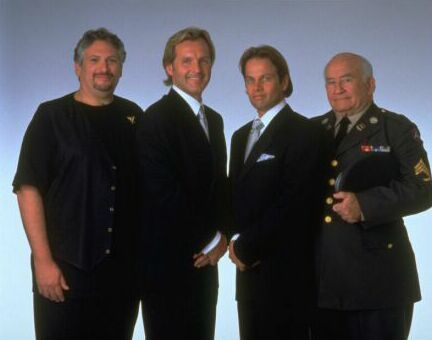 Harvey Fierstein with Andrew Airlie, James LeGros and Edward Asner