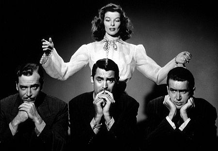 12011-4 John Howard, Cary Grant, James Stewart, Katharine Hepburn in