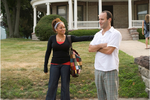 Roger Kumble and Raven-Symoné in College Road Trip (2008)