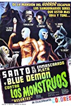 Image of Santo and Blue Demon Against the Monsters