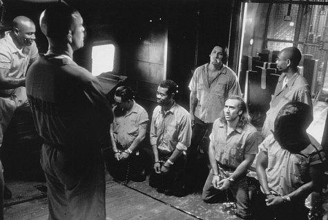 Nicolas Cage, John Malkovich, Ving Rhames, Danny Trejo, and Dave Chappelle in Con Air (1997)