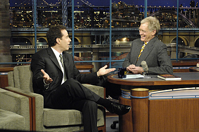 Jerry Seinfeld and David Letterman in Late Show with David Letterman (1993)