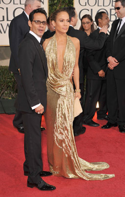 Jennifer Lopez and Marc Anthony at The 66th Annual Golden Globe Awards (2009)