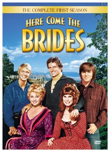 Joan Blondell, Robert Brown, Bridget Hanley, Bobby Sherman, and David Soul in Here Come the Brides (1968)