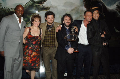 Peter Jackson, Adrien Brody, Lorraine Ashbourne, Thomas Kretschmann, Evan Parke, and Andy Serkis at an event for King Kong (2005)