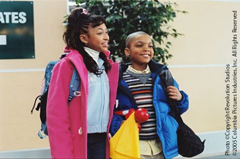 Aleisha Allen and Philip Bolden in Are We There Yet? (2005)