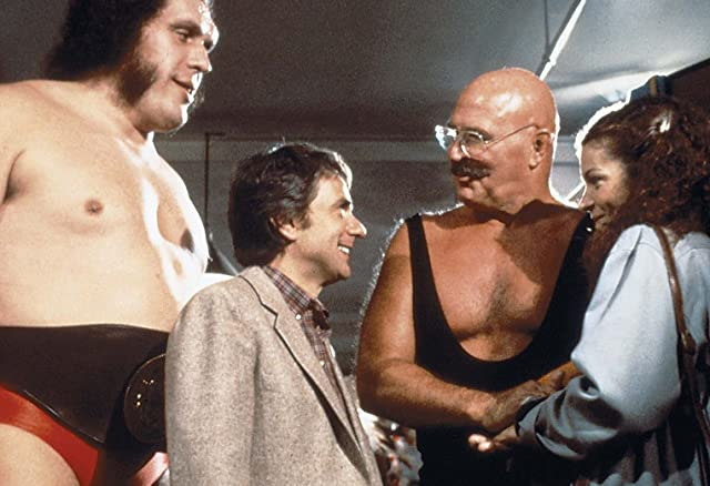 André the Giant, Amy Irving, Dudley Moore, and H.B. Haggerty in Micki + Maude (1984)