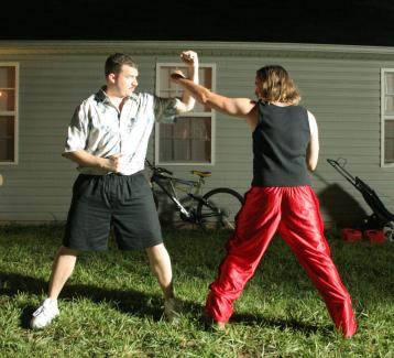 Ben Best and Danny McBride in The Foot Fist Way (2006)