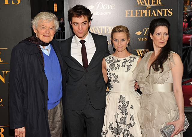 Reese Witherspoon, Hal Holbrook, Robert Pattinson, and Sara Gruen at Water for Elephants (2011)